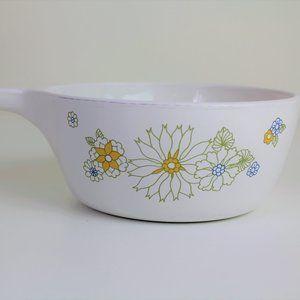 Pyrex Corning Ware Floral Bouquet Saucepan